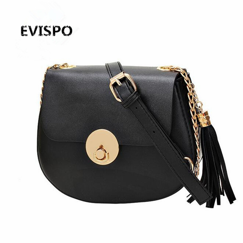 EVISPO Fashion PU leather women handbags famous designer brand bags Luxury Ladies Hand Bags And Purses Messenger shoulder bags barhee ladies hand bags famous brand handbags and purse women fashion black pu leather pochette shoulder bag women big bags hobo