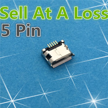 10 pcs g21 micro usb 5pin dip conector fêmea para o telefone móvel Mini USB Tomada De Carga Boca Encaracolado Alta Qualidade Vender A Um perda