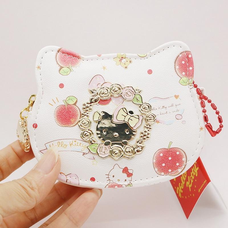 High quality PU coin purses holders hello kitty children's purses Cartoon Women Change Purse