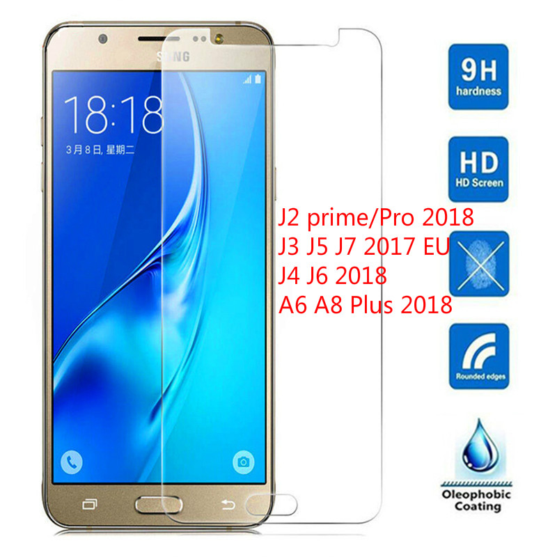 2.5D 0.26 MM Premium Tempered Glass For Samsung J3 J5 J7 2017 Screen Protecto for Samsung J4 J6 A8 2018 J2 pro A6 2018 glass 9H