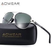 49a2a26b2 AOWEAR Classic Polarized Sunglasses Mens Retro Rays Eyeglass Aluminium  Magnesium Eyewear Coating Mirror Glasses Christmas Gifts