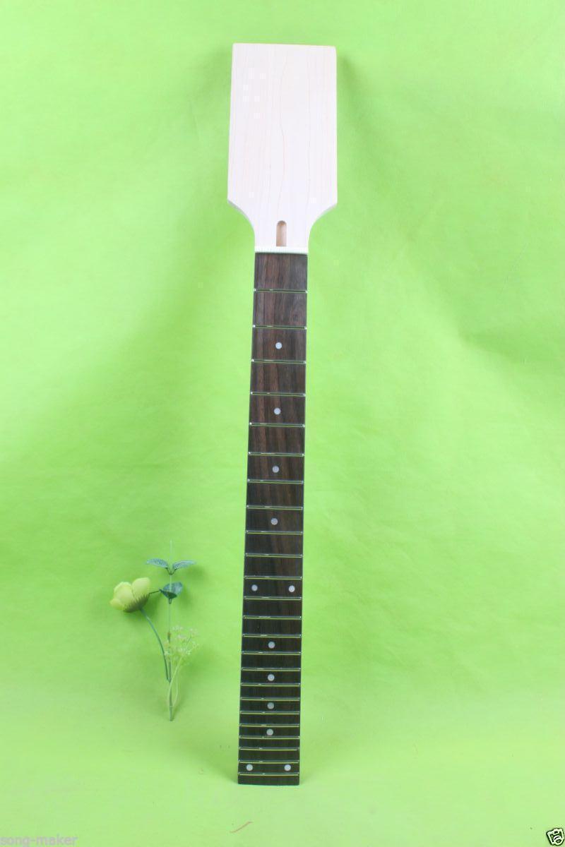 Haute Qualité 12 chaîne Guitare cou 24 fret maple palissandre large manche de la guitare 25.5 pouces Paddle