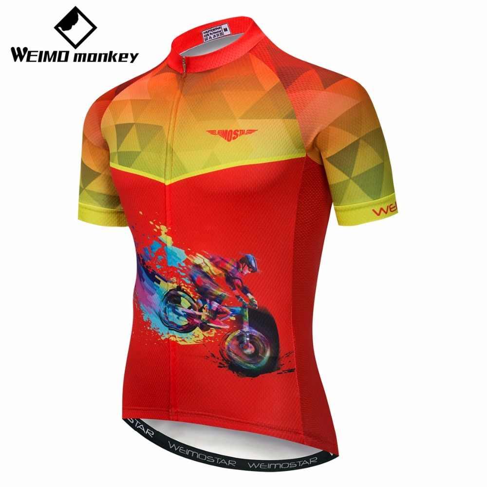 2019 Dos Homens camisa de ciclismo Bicicleta jérseis Camisas de manga Curta Pro Equipe Maillot ciclismo de Estrada de Montanha MTB Tops Sportswear vermelho branco