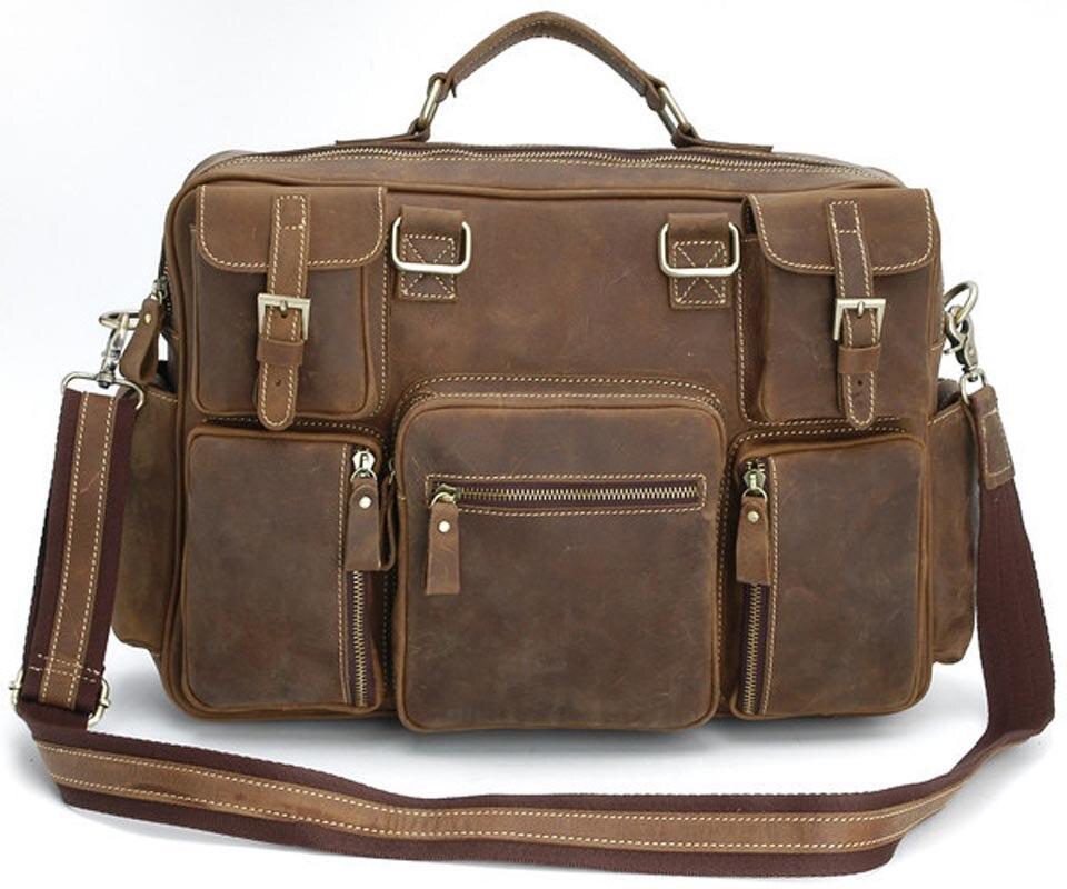 100% QualitäT Yishen Retro Echtes Leder Männer Aktentasche Handtasche Männlich Geschäftsreisetasche Messenger Bag Casual Männer Schulter Crossbody Tasche 3061