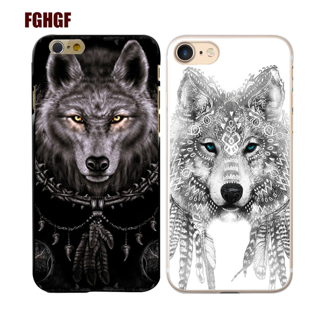 quite nice 3cb8b 8152c US $1.32 5% OFF|White wolf black wolf Phone Hard Plastic Case Cover For  iphone 4 4s 5s se 6 6s 6 6splus 7 7plus 8 8plus-in Phone Bumper from ...