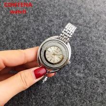 CONTENA moda casual relógios de luxo da marca homens relógios de pulso de quartzo esporte relógios masculino diamante