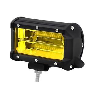 Image 3 - ערפל אור 2 Pcs צהוב Led בר נהיגה מנורת Offroad עבודה אור בר עמיד למים IP67 עבור Jeep טרקטורונים רכב SUV אופנוע משאית 12V/24V