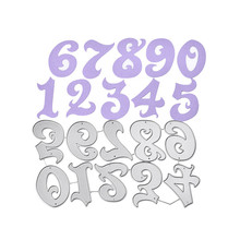 Naifumodo 86*153mm Dies Cutting Numbers Letters Metal for DIY Scrapbooking Card Album Embossing Die Cut New Template