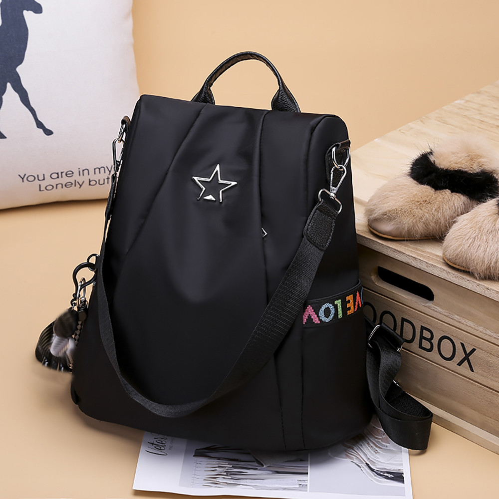 HTB1fvveMmzqK1RjSZFjq6zlCFXa8 Masion Fabre Shoulder Bag Anti-theft Backpack Bag Personality Wild Oxford Cloth Small Backpack Bags For Women Mochila Feminina