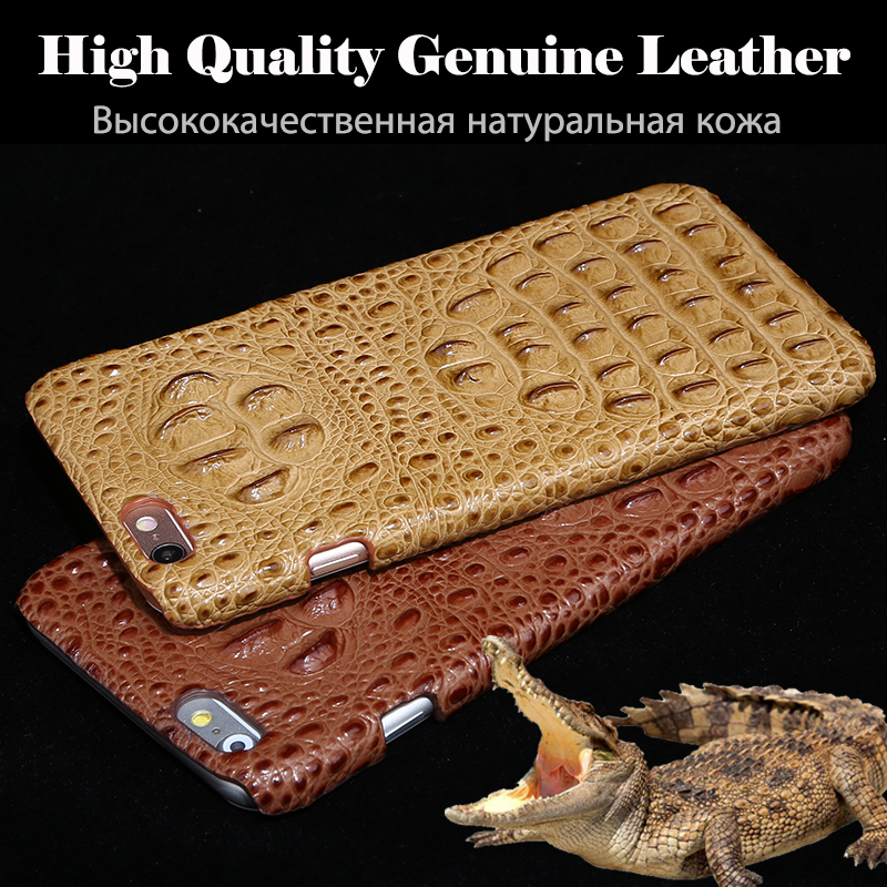 New Brand For ZTE Nubia Z17 Mini Phone Case Cover Luxury 3D Crocodile Back Lines Genuine Leather Phone Cover + Free Gift
