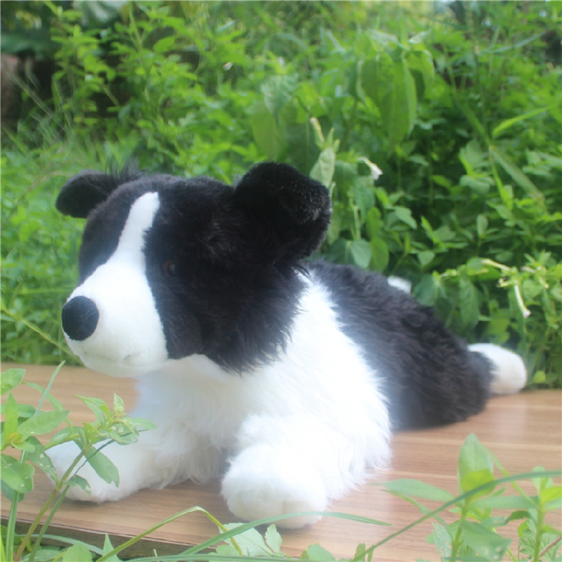simulation animal dog plush toy doll realistic border collie dolls pet animals for children friends gift