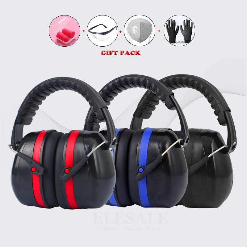 High Quality Anti-Noise Adjustable Head Earmuff SNR-35dB Ear Protector For Work Study Shooting Woodwork Hearing Protection