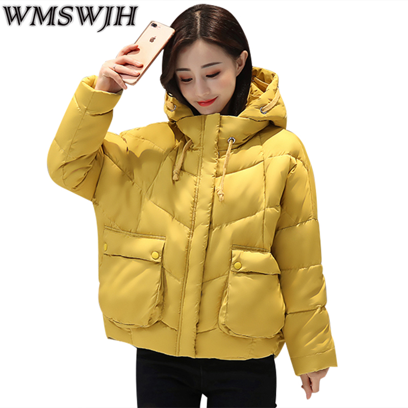 2017 High Quality Women Winter Jacket Fashion Girls Hooded Bread Parkas Female Casual Oversized Warm Wadded Jacket Outwear WS255
