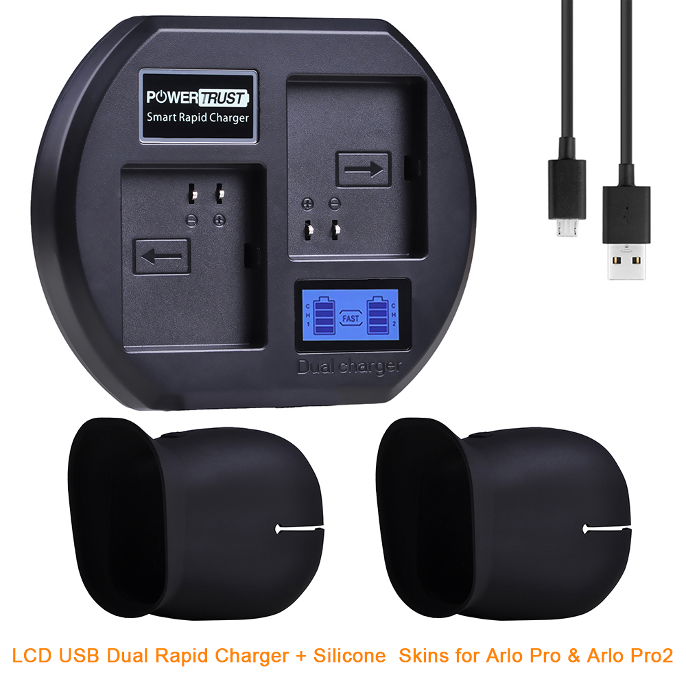 Fast Charging Station Compatible with Arlo Rechargeable Batteries Black Dual Charger Stand with LCD Display Compatible for Arlo Security Light /& Arlo Pro /& Arlo Pro 2 /& Arlo Go Batteries