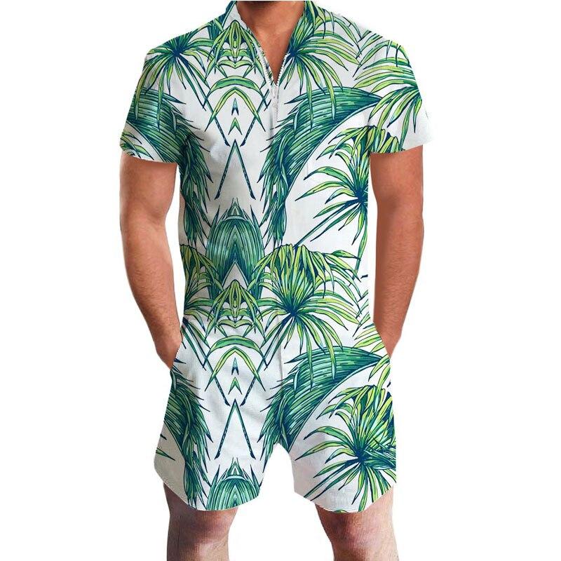 8b72a7075c80 Dropwow Short Sleeve Men Rompers Flamingo Trousers Male Single ...