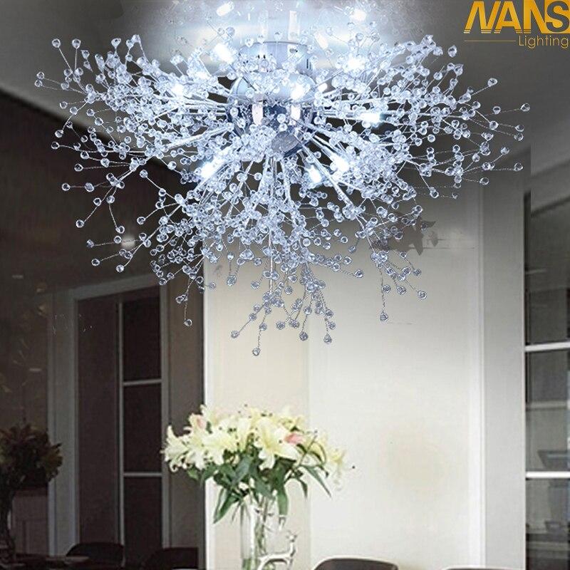 Branco moderno LEVOU Luzes de Teto Para Sala luminarias pará sala plafon Cristal led Lâmpada Do Teto Luminárias Para Quarto