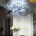 Moderne Witte LED Plafond Verlichting Voor Woonkamer luminarias para sala plafon led Kristallen Plafondlamp Armaturen Voor Slaapkamer