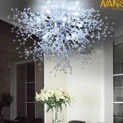 Nowoczesne białe lampy sufitowe LED do salonu luminarias para sala plafon led kryształowe oświetlenie sufitowe do sypialni