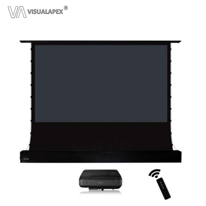 A2HALRU 16:10 ecran de sol à tension électrique, avec matériau ALR, déclencheur de projecteur 12V sans fil