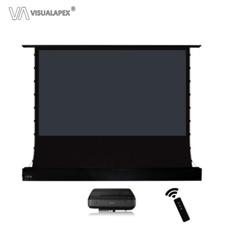A2HALRU 16:9 HDTV formato motorizado eléctrico ALR pantalla de proyección de aumento de piso para proyector de tiro Ultra corto, sólo Anti-Luz