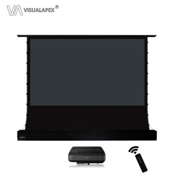 A2HALRU 4:3, Portable Electric Motorized Floor-Rising Projection Projector Screen,for UST projector