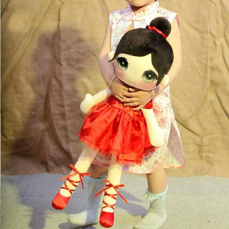RYRY 95cm Ballet Girl Dolls Stuffed Toys Cartoon Plush Soft Toys for Children Kawaii Gifts for 1-9 Years Old Children Girls stuffed toys for children dolls giraffe plush nano doll christmas gudetama emoji unicorn fun soft plush 80a0583