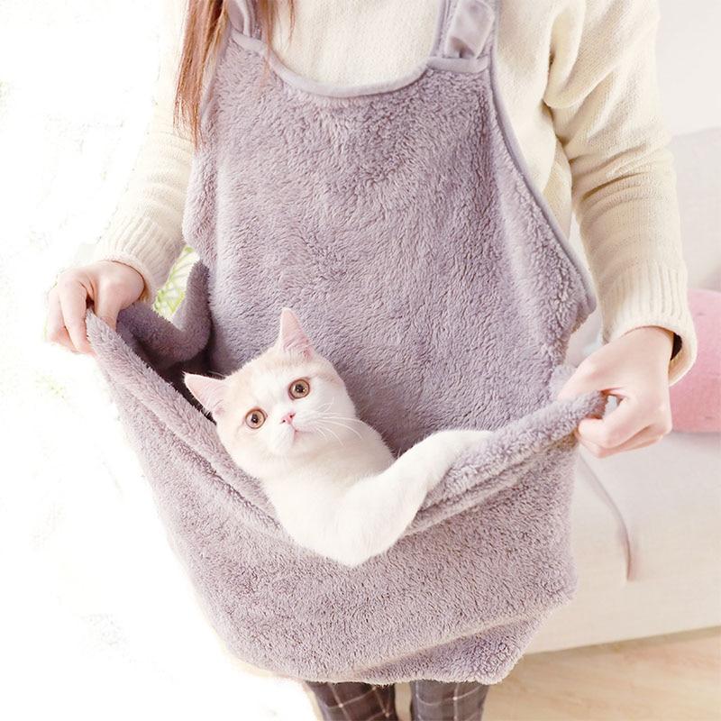 Apron font b Pet b font cat small dog Travel Carrier sling bag outdoor portable dog