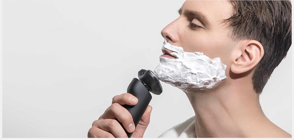 barbeador xiaomi mijia  barbeador à prova d'água  barbeador xiaomi  Barbeador preto  Barbeador elétrico  Barbeador