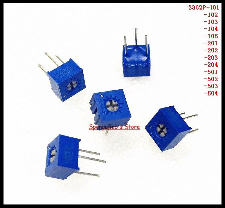 20Pcs 3362P-502 3362 P 5K Ohm High Precision Variable Resistor Potentiometer mt