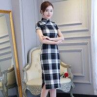 Traditional Chinese Summer Cheongsam Women Cotton Dress