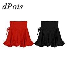 27ff310b877dd Las mujeres las niñas baile latino Falda de baile Samba Chacha baile vestido  de la falda de la cintura alta apasionado Mini fald.