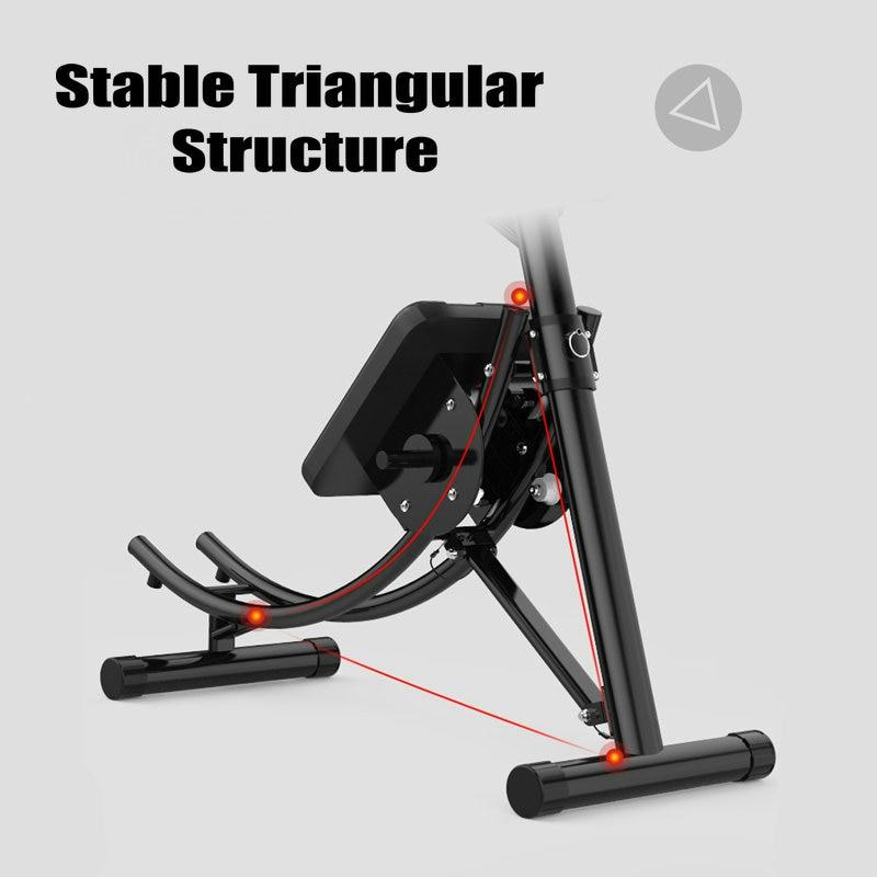 Dispositivo Abdominal plegable, carga de entrenador de abdominales con estructura de acero de 30 libras, equipo de entrenamiento de cintura con forma de pliegue compacto - 3
