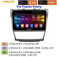 FEELDO 10.12.5D Nano IPS Screen Android 6.0 Octa Core/DDR3 2G/32G/4G LTE Car Media Player For Toyota Camry 2007 2011/Camry v40
