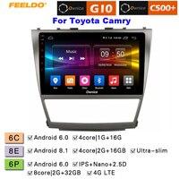 FEELDO 10,1 2.5D Nano ips Экран Android 6,0 Octa Core/DDR3 2G/32G/4G LTE автомобиль медиаплеер для Toyota Camry 2007 2011/Camry v40