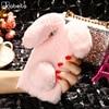 AKABEILA Luxury Rabbit Style Fluffy Warm Fur Cases For ZTE Blade V7 Max Case Soft TPU