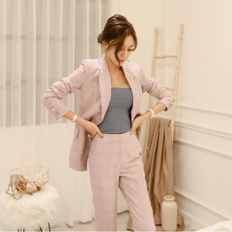 Women 39 s suit Jacket Trousers 2 Piece Ladies Office Wear Suit Womens Business Sets With Pants Formal Pant Suits For Women in Pant Suits from Women 39 s Clothing
