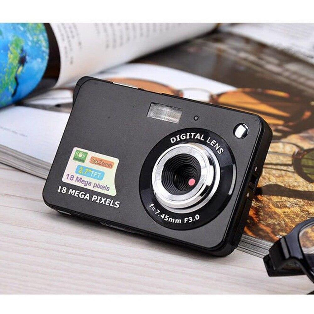 2,7 pulgadas ultrafino 18 MP Hd cámara Digital cámara de vídeo para niños cámaras digitales estudiantes cumpleaños mejor regalo