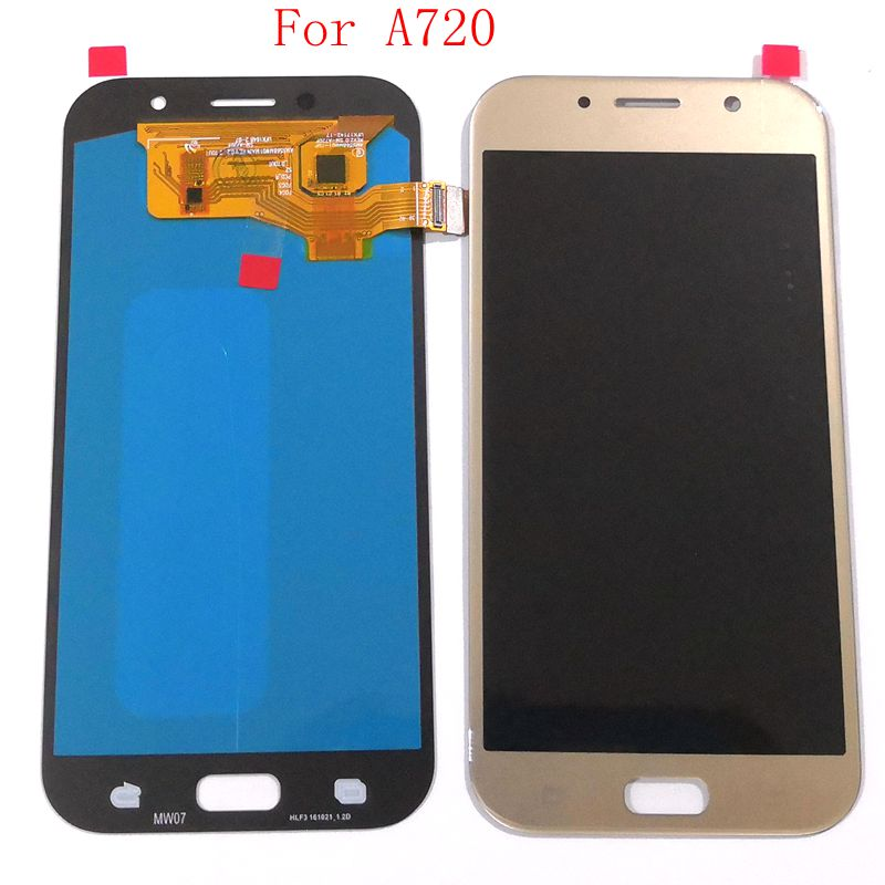Tested good For <font><b>Samsung</b></font> Galaxy A7 2017 <font><b>A720</b></font> A720F/ds Amoled <font><b>LCD</b></font> With touch glass Full set for repair display image