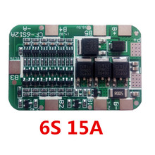 1PC 6S 15A 24V Lithium Protection Board For 6 Pack 18650 PCB BMS   Li-ion Battery Cell Module