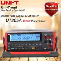 UNI-T UT805A Desktop Digital Multimeter ความแม่นยำสูง True RMS Multimeter จอแสดงผลคริสตัลเหลว USB/RS232 ข้อมูล