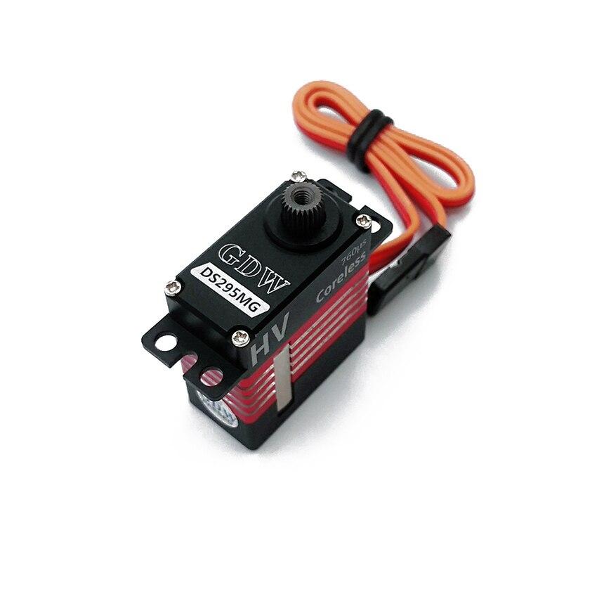 GDW DS295MG haute vitesse métal HV numérique sans noyau Micro Servos queue Servo Fit GAUI X3 T-REX 470L SAB petite boule de feu