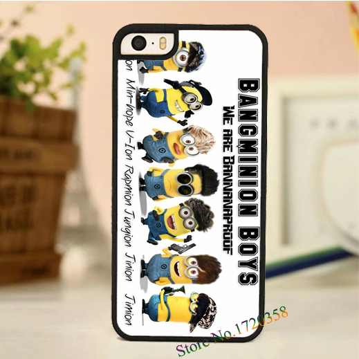 buy online 57643 e8fe3 US $6.99  bangtan boys bts minions fashion original cell phone case cover  for iphone 4 4s 5 5s 5c 6 6 plus on Aliexpress.com   Alibaba Group