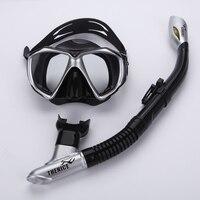 Thenice Professional Snorkeling diving set kit gear Equipment Myopia Silicone Fog proof Mask Full dry Breath tube Swim Spearfish