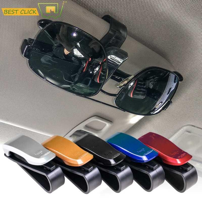 ミシマ自動太陽バイザーメガネファスナークリップホルダーサングラス眼鏡チケットカードユニバーサル多機能ポータブル