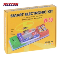 W 39 Circuits Smart Electronic Block Kit Integrated Circuit Building Blocks Experiments Educational Learning Science Kids