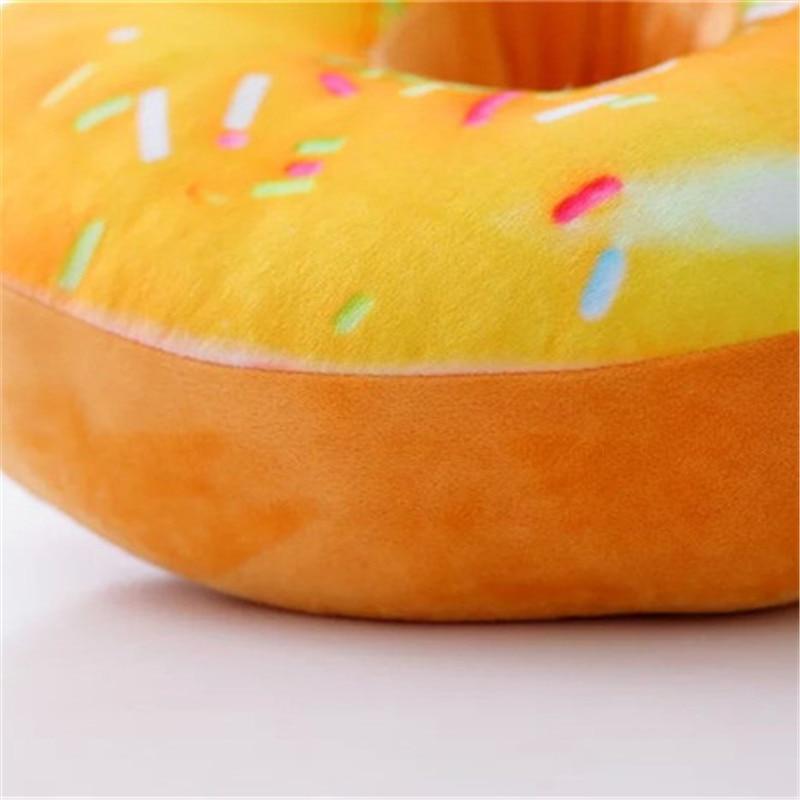 HTB1fvyaXEjrK1RkHFNRq6ySvpXaS 1Pcs Xmas 40cm Sofa Decorative Cute Simulation Cushion Soft Plush Pillow Without Stuffed Seat Pad Donut Foods Cushion Case Toys