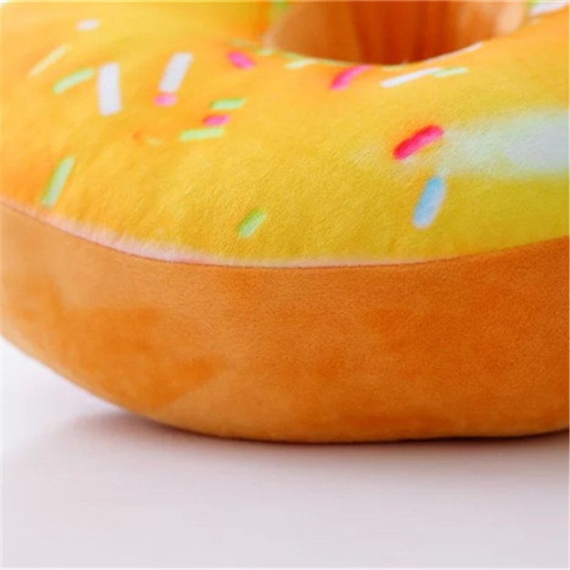 40cm Soft Decorative Cute Donut Simulation Cushion Soft Plush Pillow Cover Without Stuffed Seat Pad 3