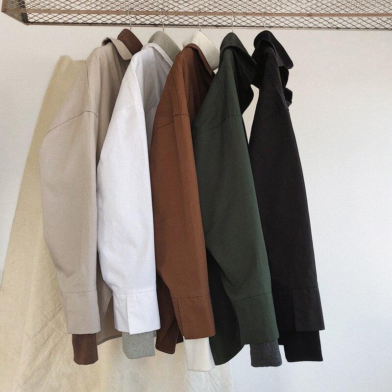 2018 Frühjahr Neue Muster Han Banchao Männlichen Einfarbig Einfach Falsche Zwei Papier Rendering Shirt Mann Freizeit Zeit Lang Hülse Hemd