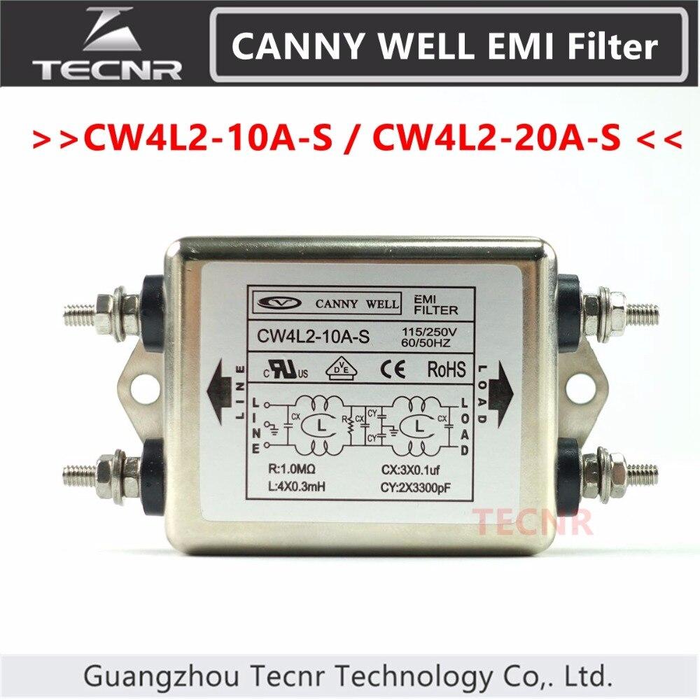 цена на CANNY WELL CW4L2-10A-S CW4L2-20A-S Power EMI filter 115V/250V 10A 20A 50/60HZ