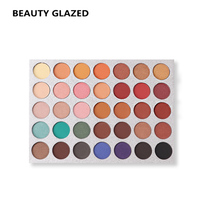 BEAUTY GLAZED Brand Eyes Make Up Eye Shadow 35 Color 1 Set Luminous Shimmer Matte Makeup